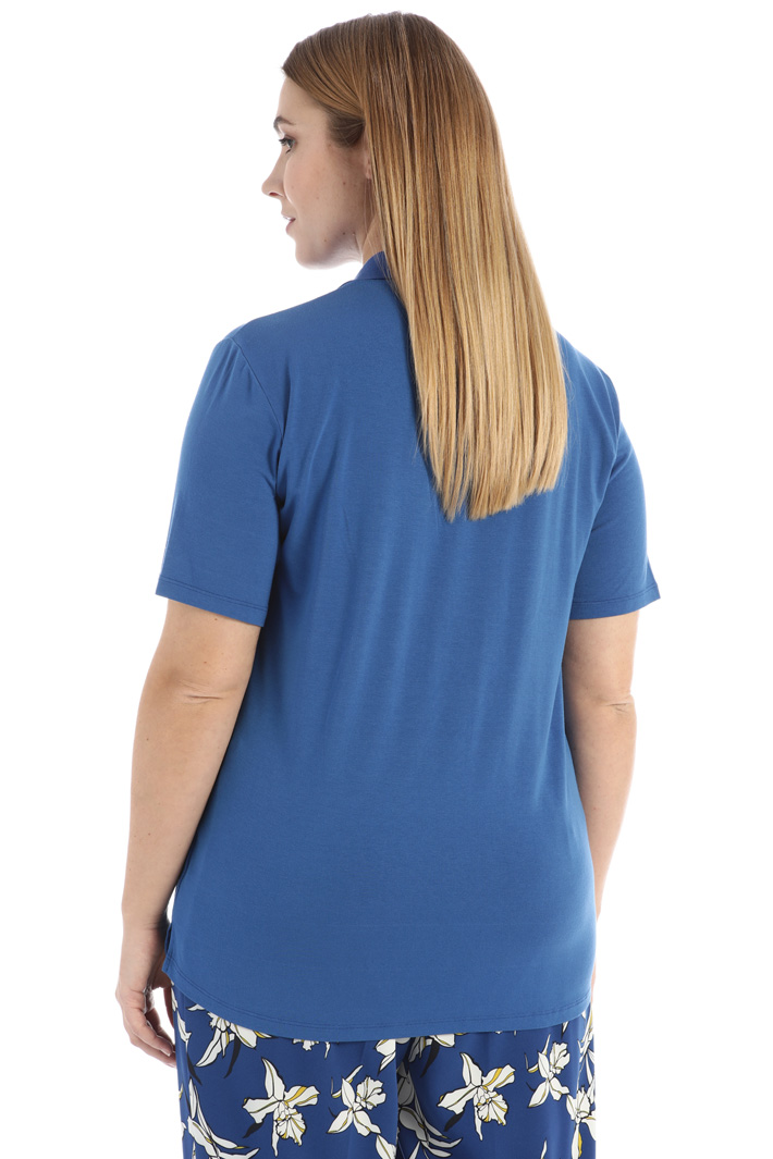 Frilled jersey polo Intrend