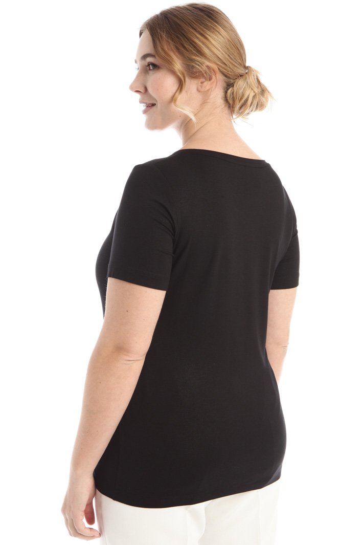 Laminated jersey T-shirt Intrend