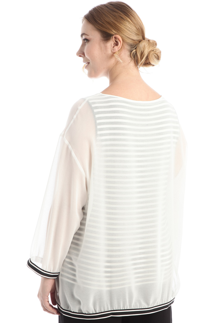 Georgette and jersey T-shirt Intrend