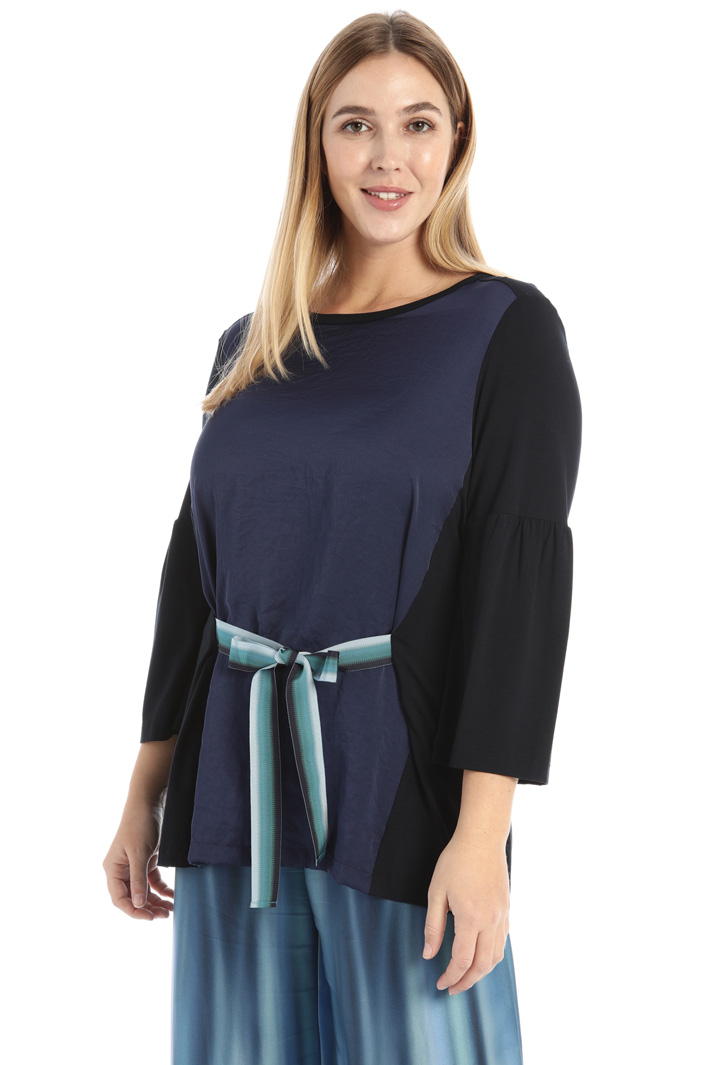 Jersey and satin T-shirt  Intrend