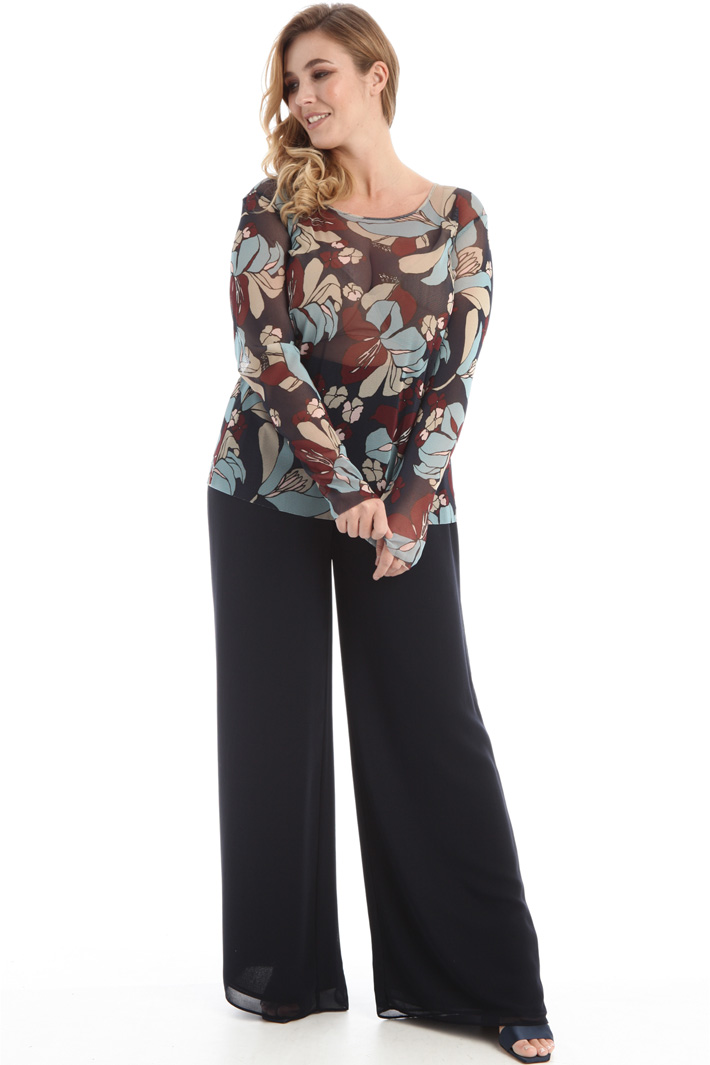 Printed tulle top Intrend