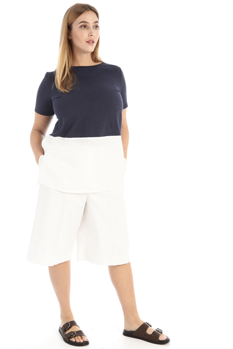 Jersey and linen T-shirt Intrend