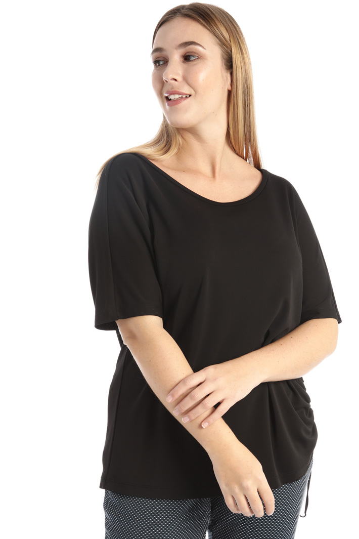 Jersey T-shirt with drawstring Intrend