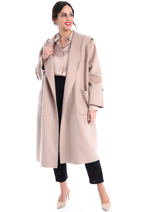 Hooded cashmere coat  Intrend