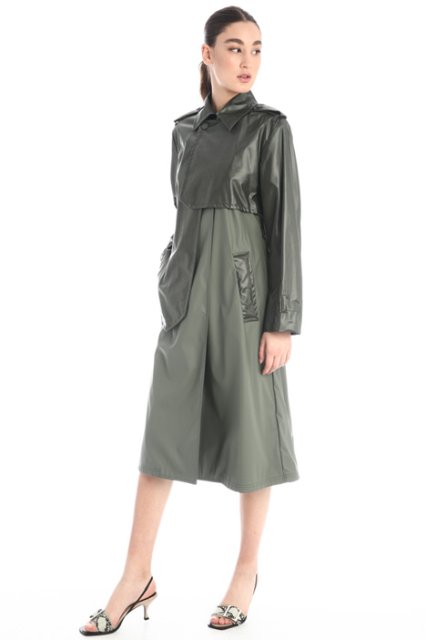 Coated wool trench Intrend
