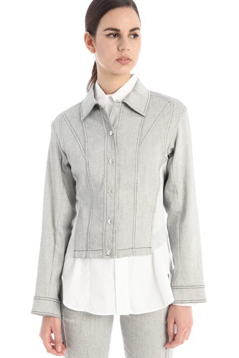 Denim-effect twill jacket Intrend