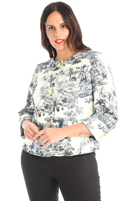 Printed cotton jacket Intrend