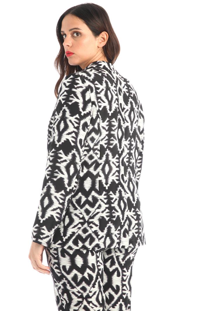 Printed silk jacket Intrend
