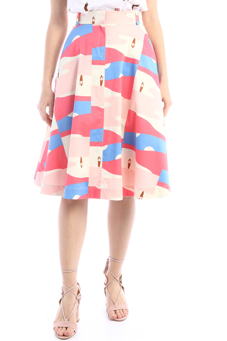 Patterned satin skirt Intrend