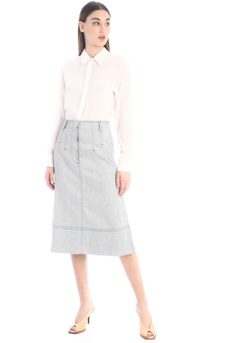Linen twill skirt Intrend