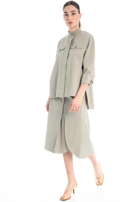 Gabardine skirt with slits Intrend