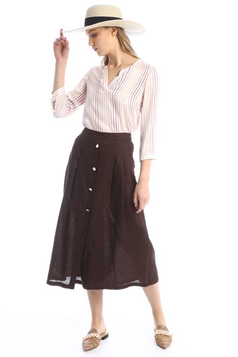 Divided skirt in linen Intrend