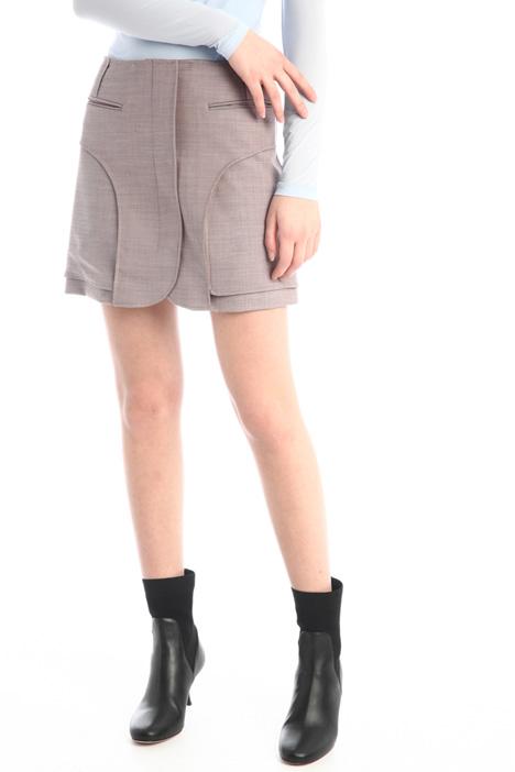 Short skirt in wool Intrend