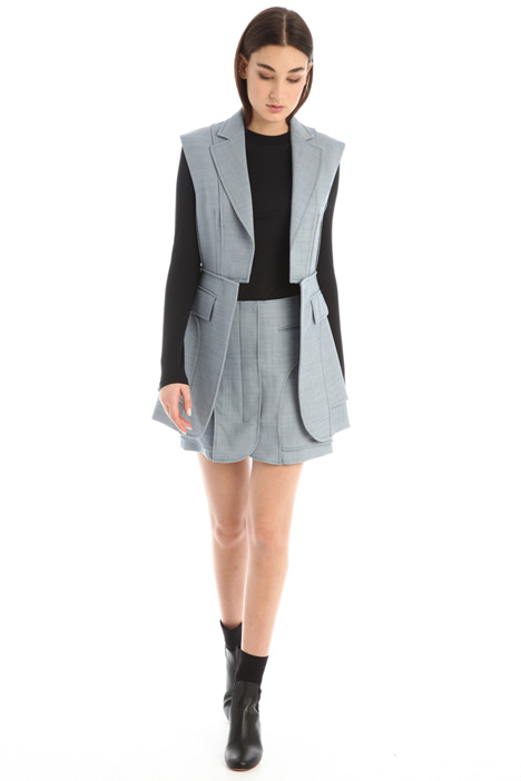 Short skirt in wool Intrend