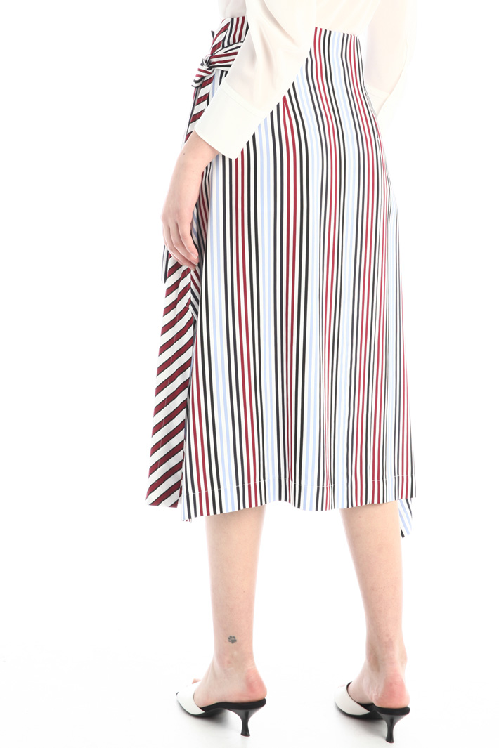 Wrap-up skirt in cady Intrend