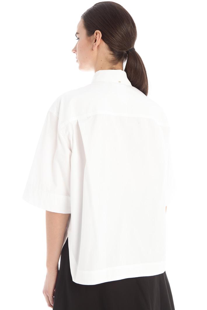 Oversized poplin shirt Intrend