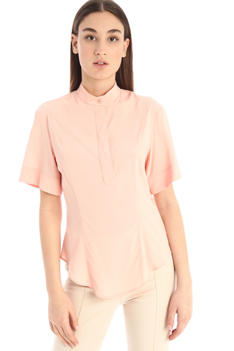 Slim fit crepe shirt Intrend