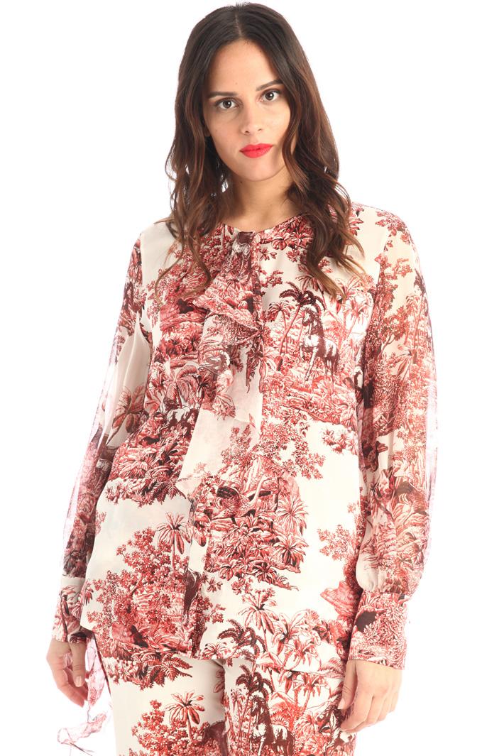 Printed silk shirt Intrend