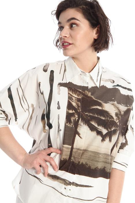 Camicia in popeline stampato Intrend