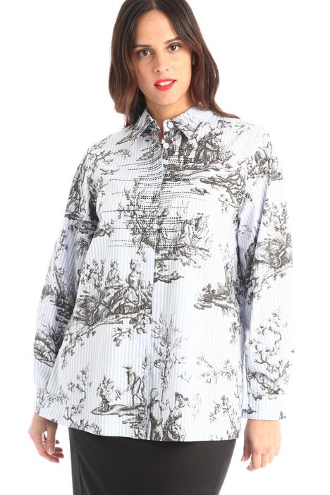 Printed poplin shirt Intrend