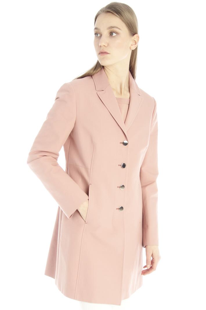 Slim fit cotton overcoat Intrend