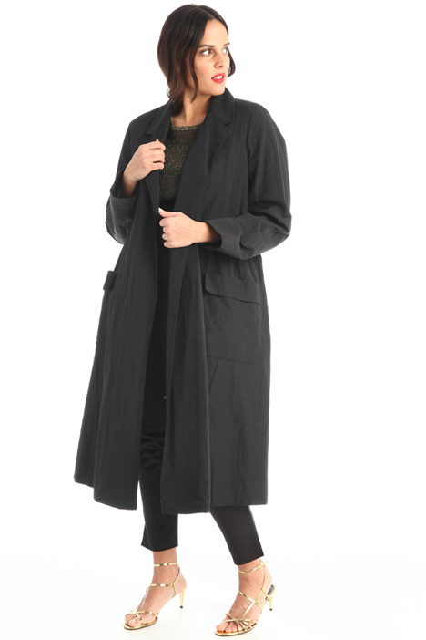 Linen blend duster coat  Intrend