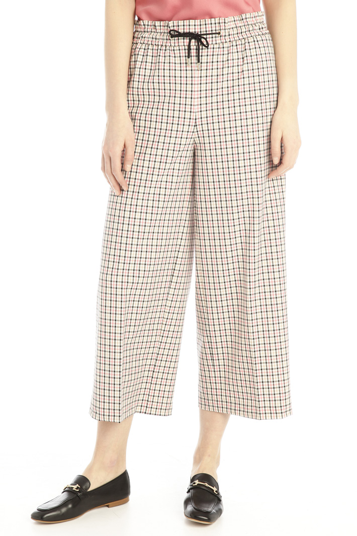 Crop canvas trousers Intrend