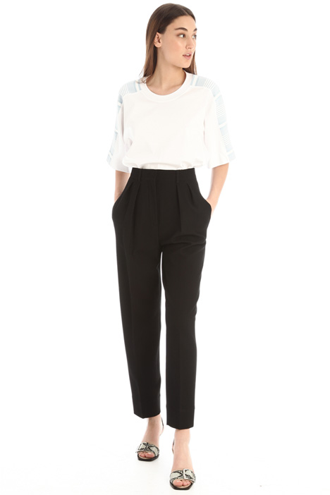 Carrot trousers in cotton Intrend