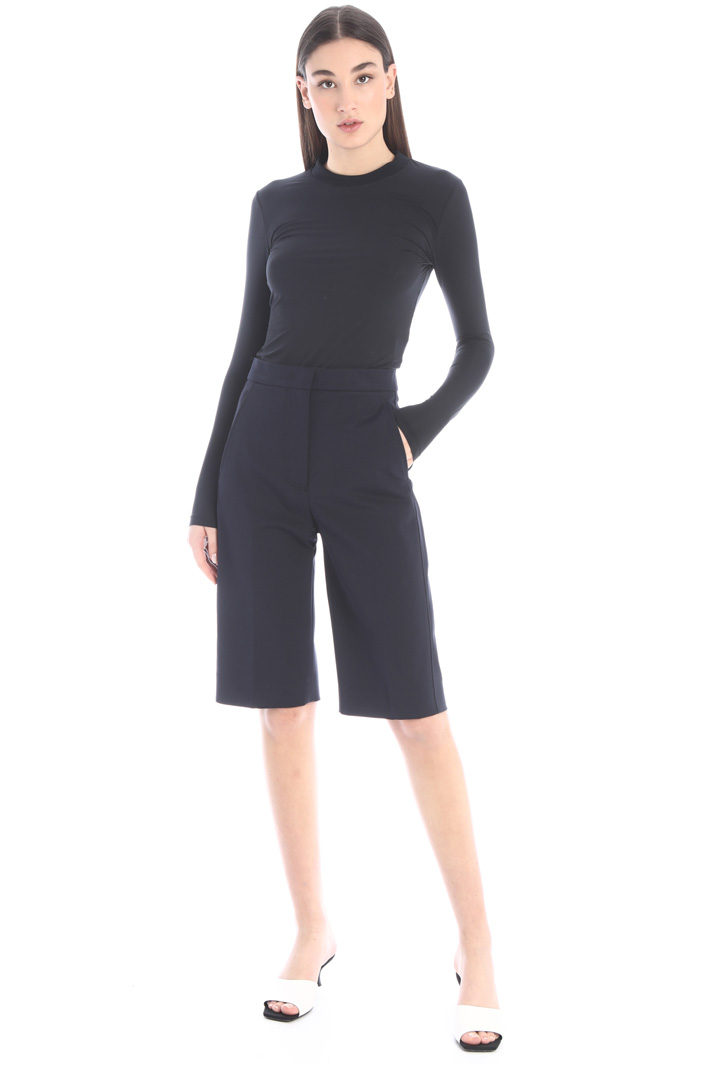 Double cotton bermuda shorts Intrend
