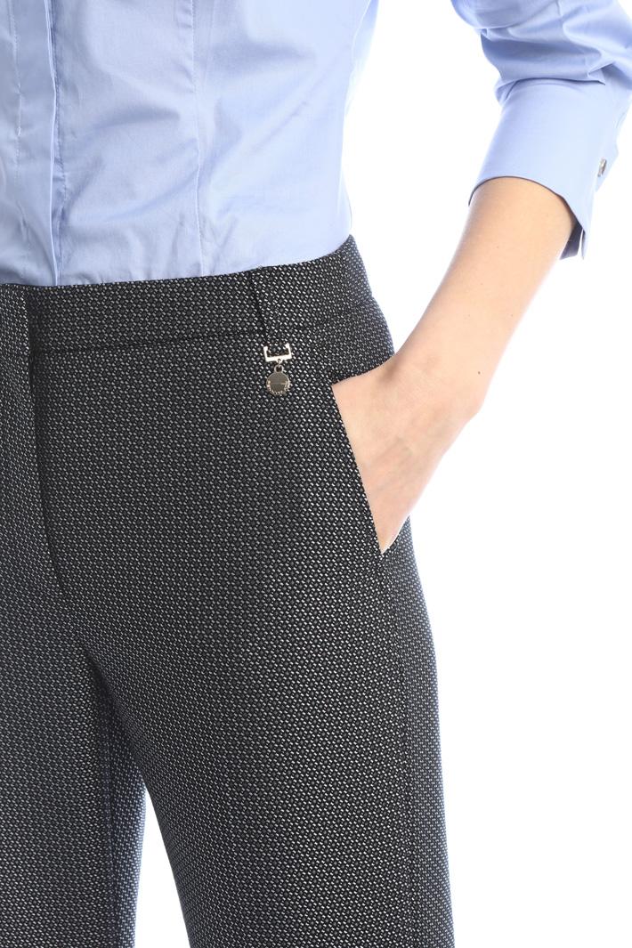 Straight leg jacquard trousers Intrend