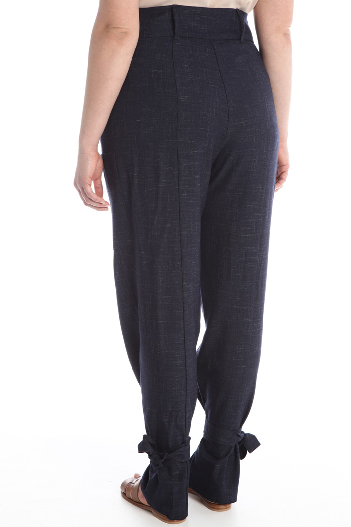 Carrot trousers in viscose Intrend
