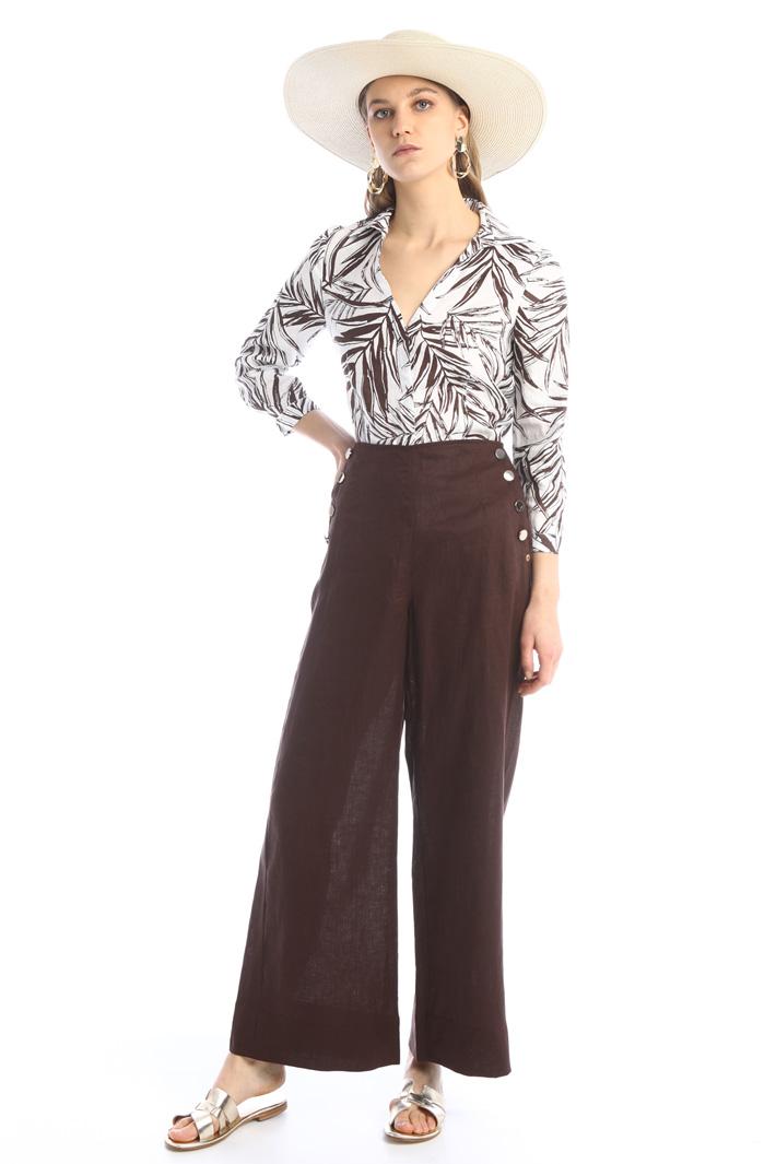 Wide-leg linen trousers Intrend