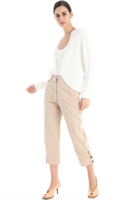 Pantaloni in canvas di cotone Intrend