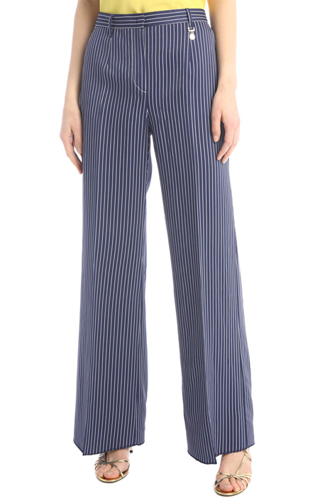 Pinstriped linen trousers Intrend