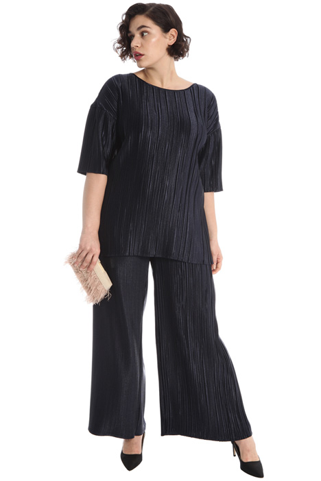 Pleated satin trousers Intrend