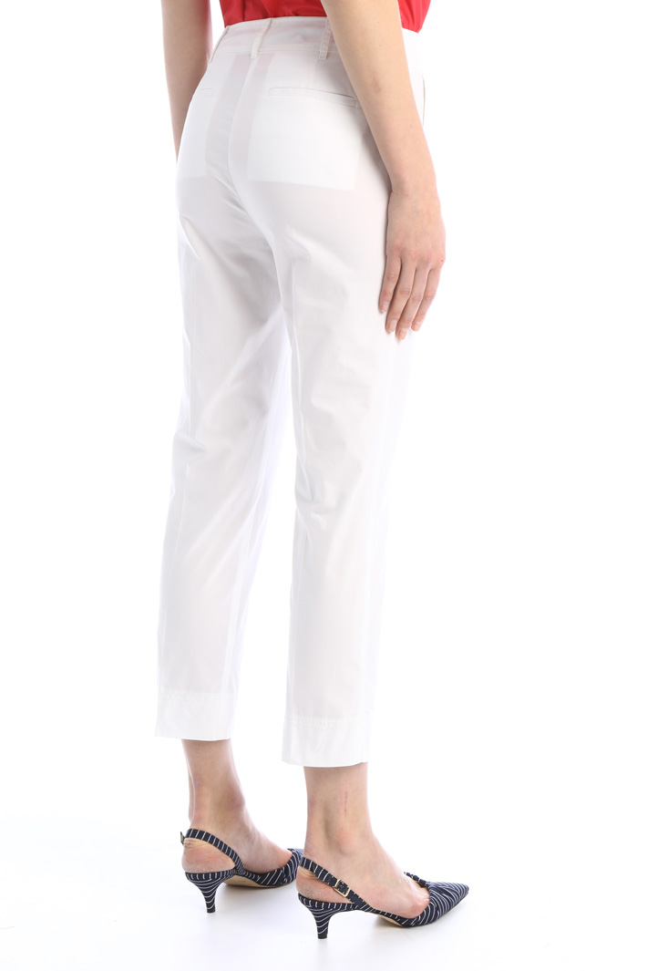 Fitted poplin trousers Intrend