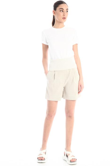 Denim effect twill shorts Intrend