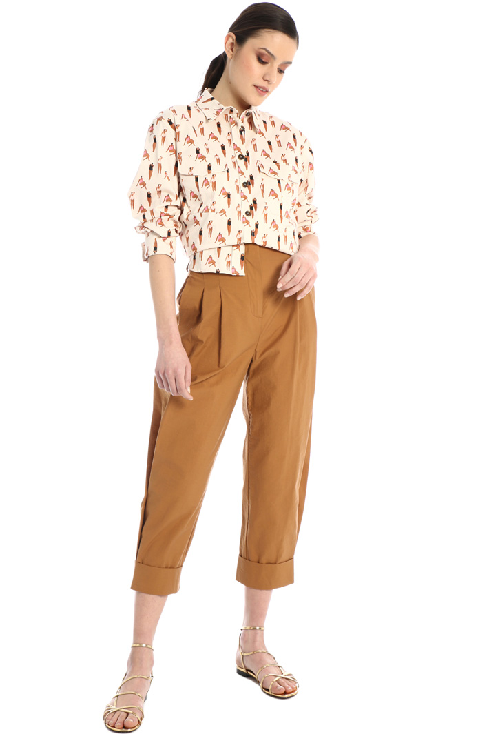 Patterned satin shirt Intrend