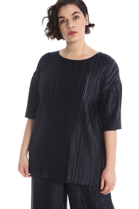 Pleated satin tunic Intrend