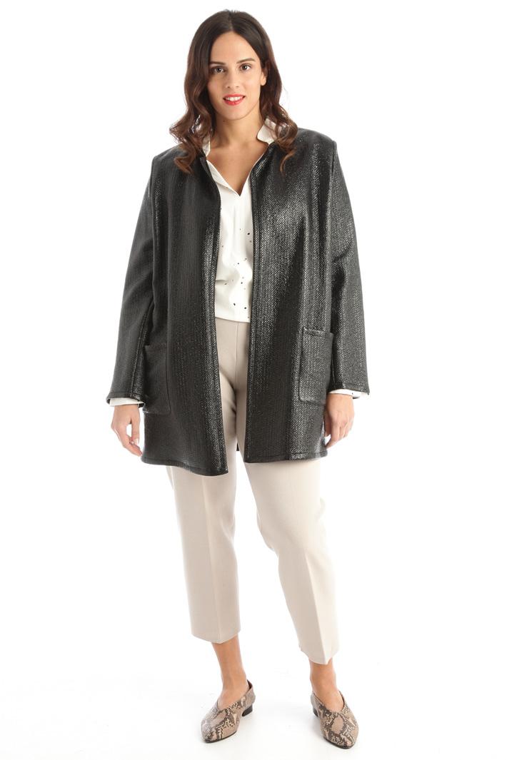 Shiny linen duster coat Intrend