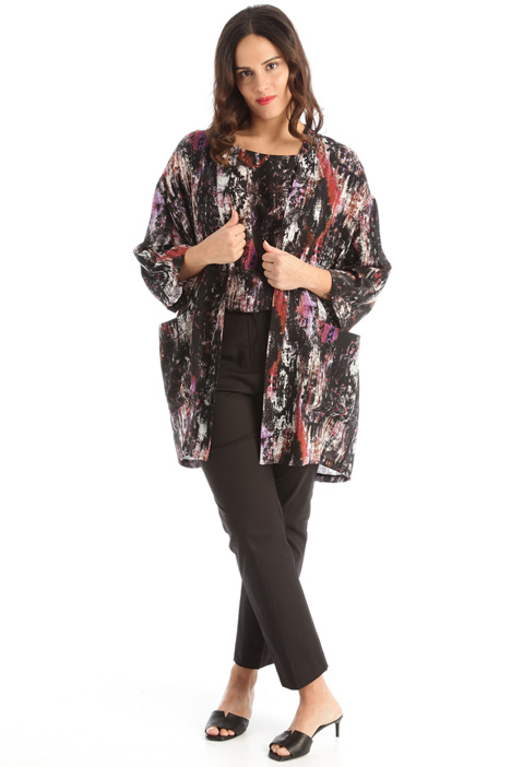 Printed silk jacket Intrend