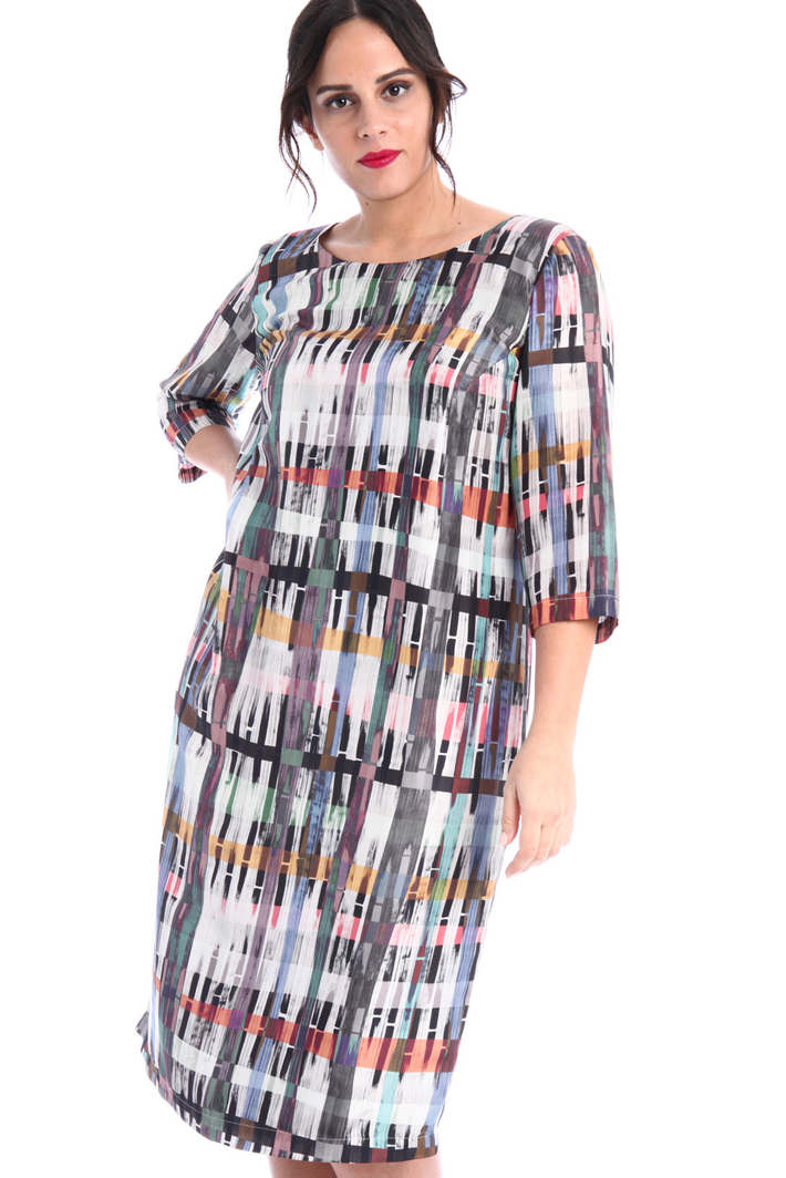 Pure printed silk dress Intrend