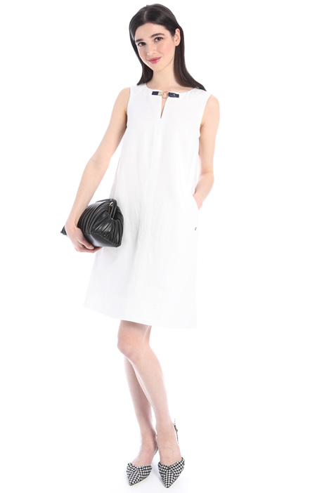 Short linen and cotton dress Intrend