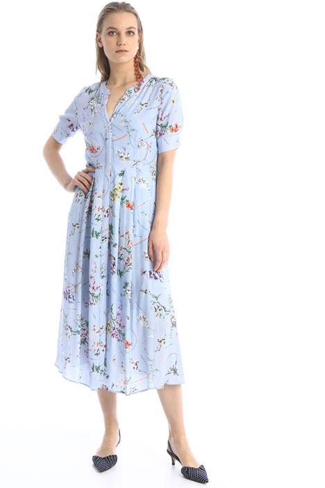 Shirt dress in crepe fabric Intrend