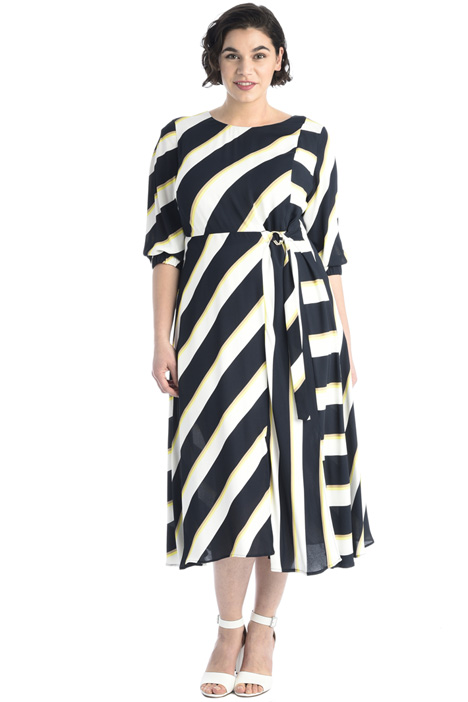 Printed crepe dress Intrend
