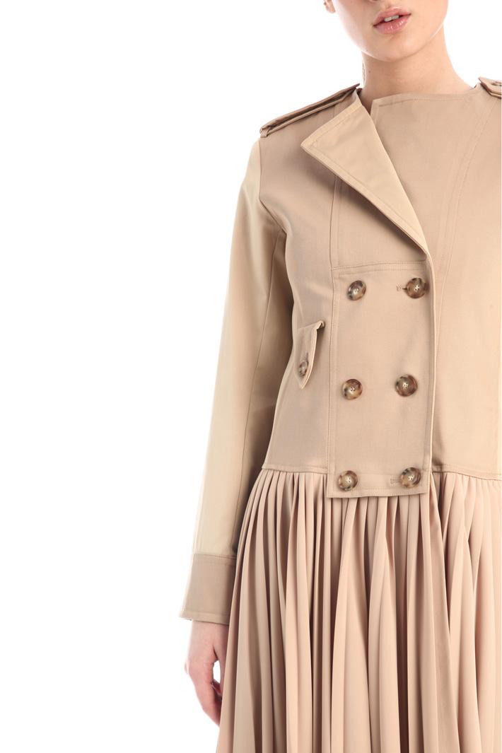 Pleated gabardine dress Intrend