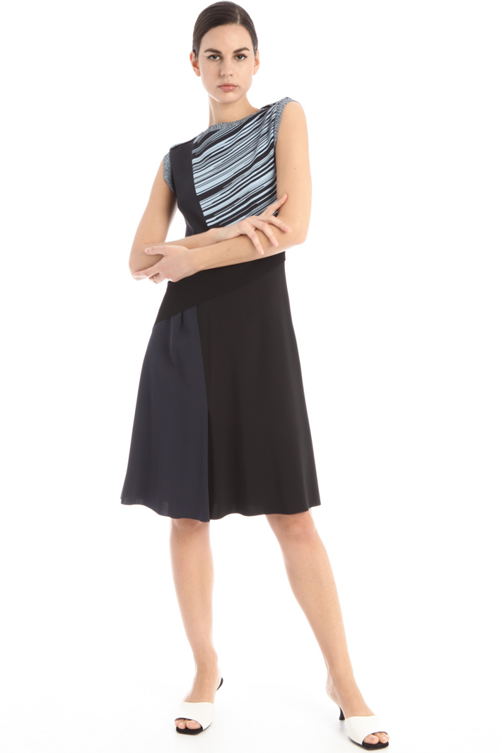 Cady and jersey dress Intrend