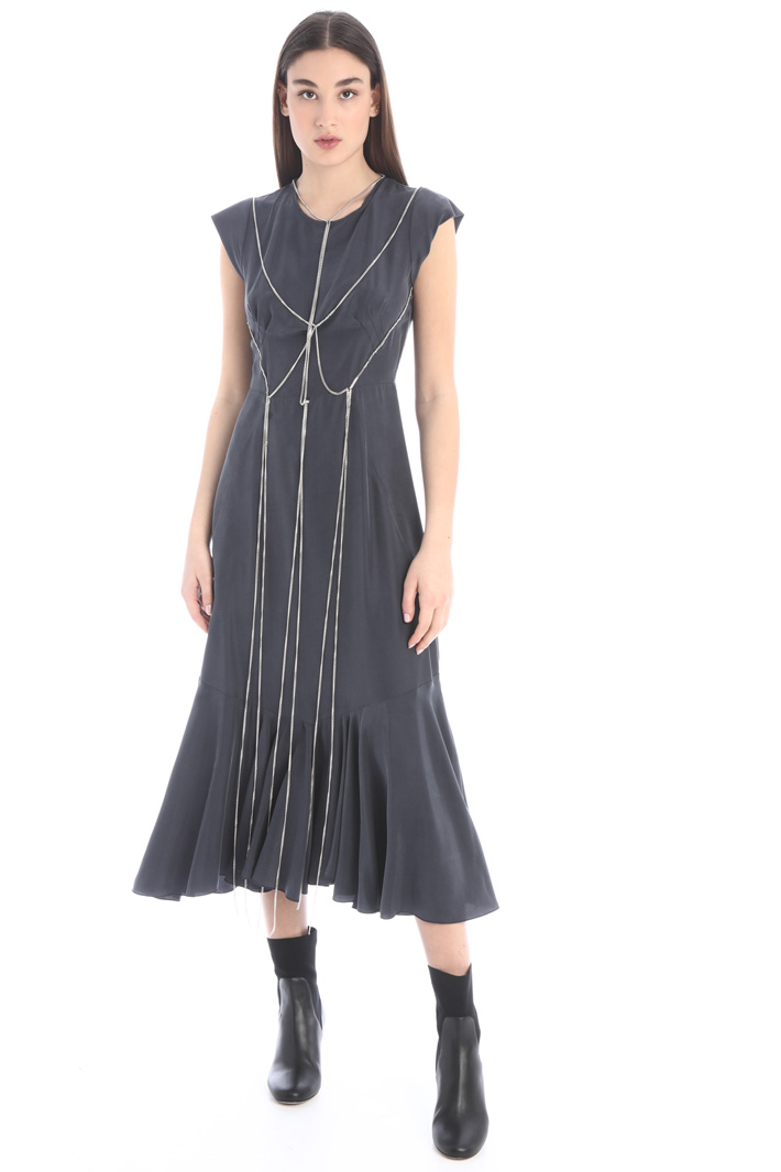 Chain detailed dress Intrend
