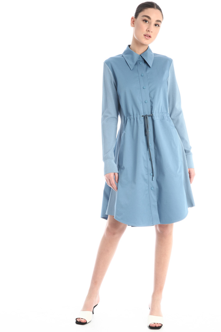 Gabardine and knit dress Intrend