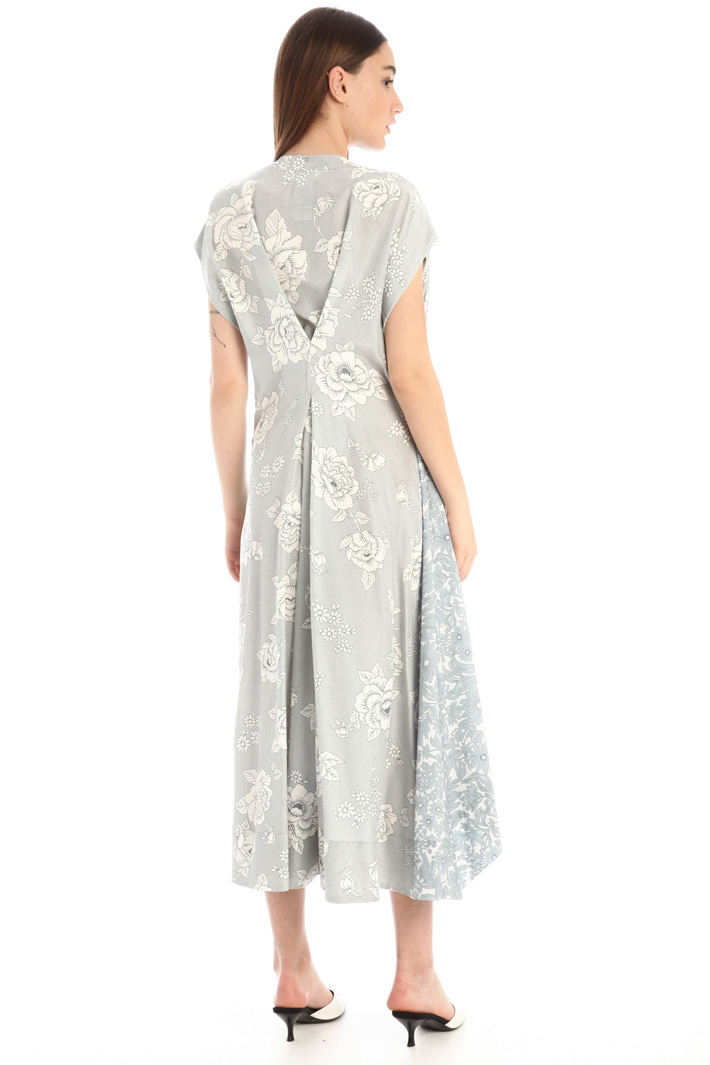 Satin and poplin dress Intrend
